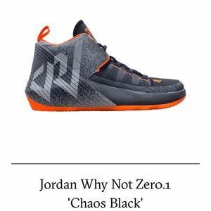 "Jordan Why Not Zero.1 ""Chaos Black"" BV5498-008 NEW"